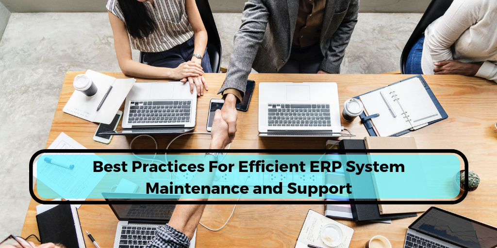 best practices of erp system maintenance and support
